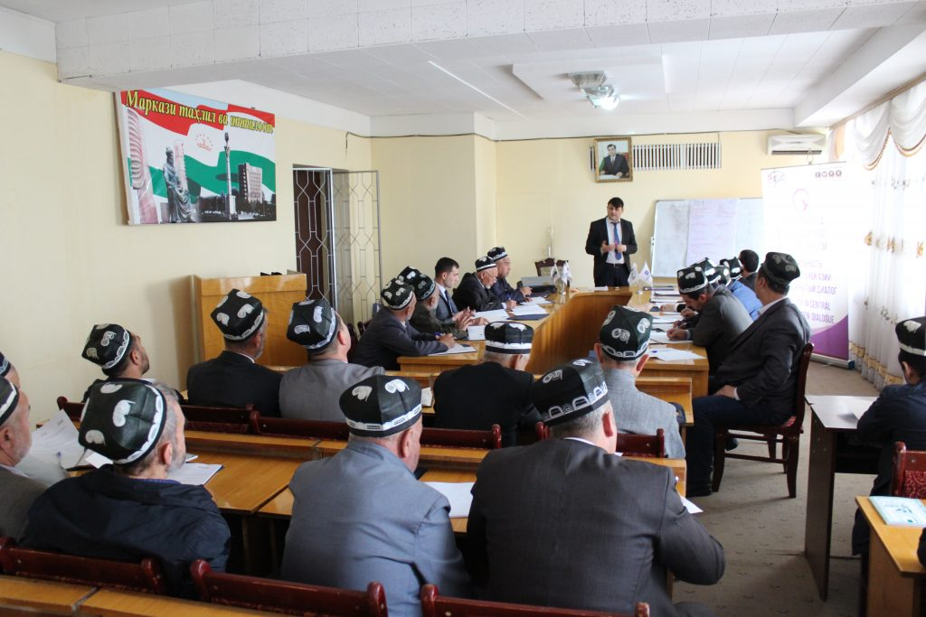 Training for imam-khatibs in Khujand. Photo: cabar.asia