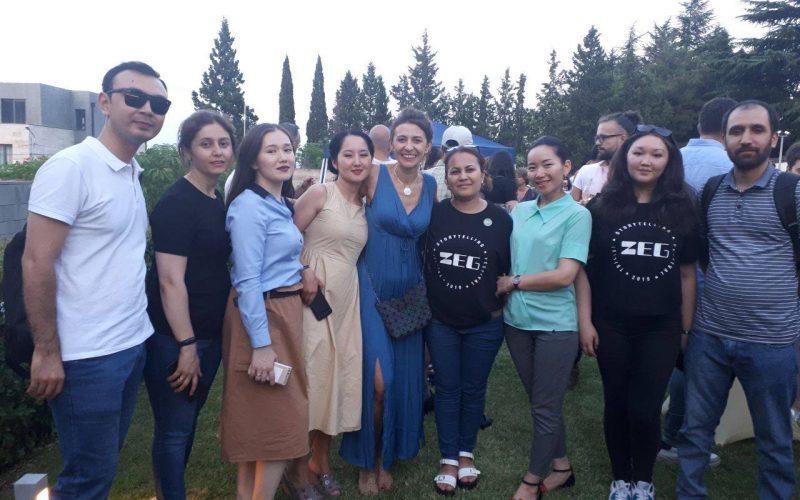 Журналисты с директором фестиваля Tbilisi storytelling festival