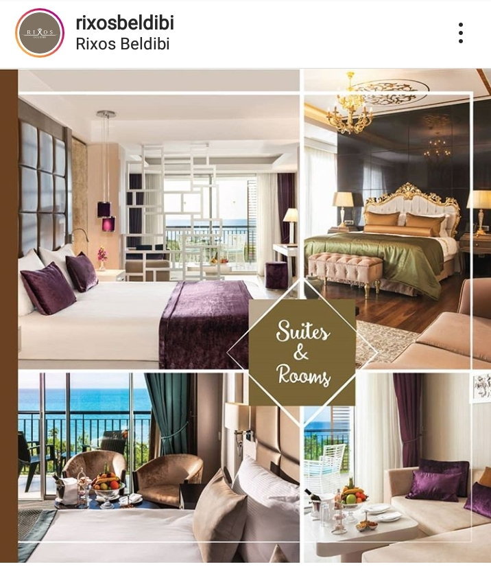 Photo of the hotel on the official Instagram account.