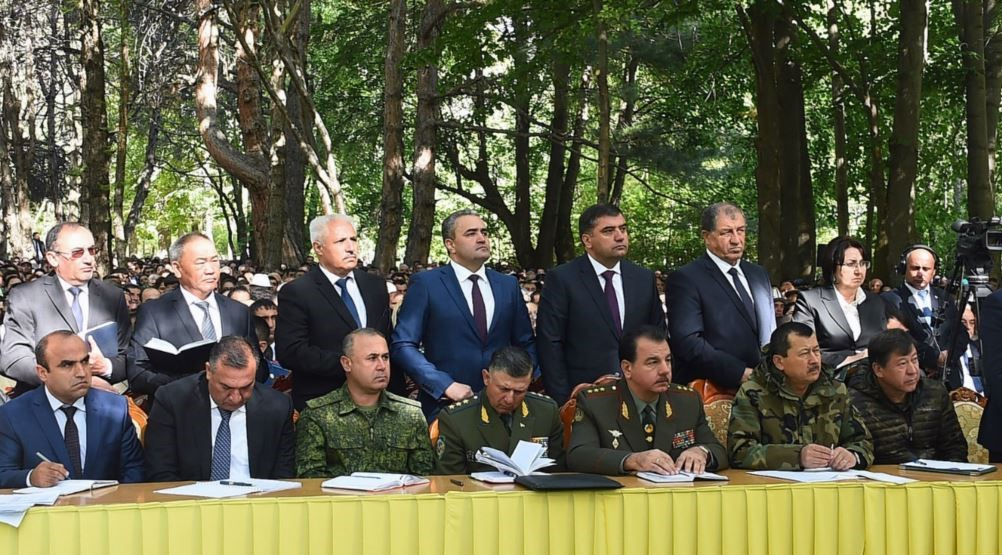 Heads of security forces on the meeting with President Rahmon in September 2018. Photo: president.tj