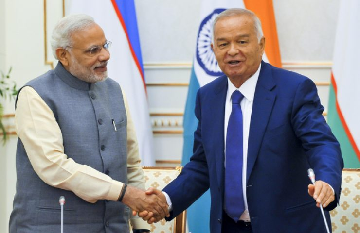 Islam Karimov, Narendra Modi
