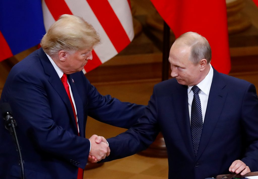 Donald Trump and Vladimir Putin. Photo: REUTERS