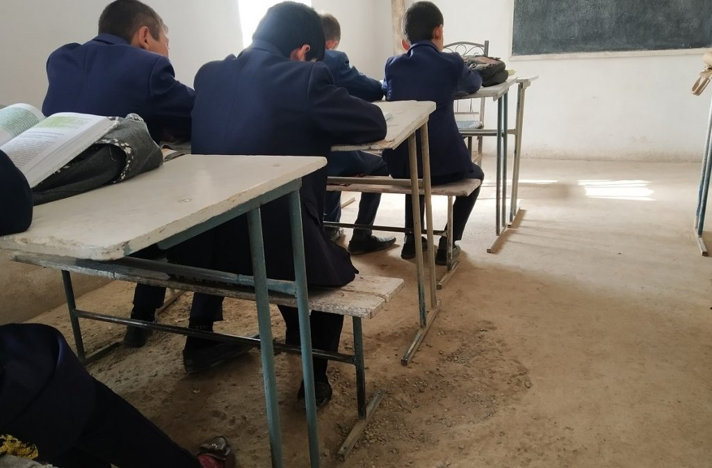 There is no wooden floor in the school No. 58. Photo: CABAR.asia
