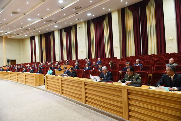 The latest meeting of the government. Photo: Press service of the President of the Republic of Tajikistan