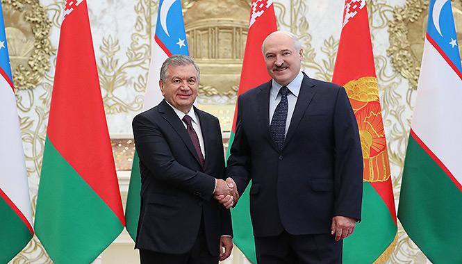 Meeting of Shavkat Mirziyoyev with Alexander Lukashenko in August 2019. Photo: http://president.gov.by/