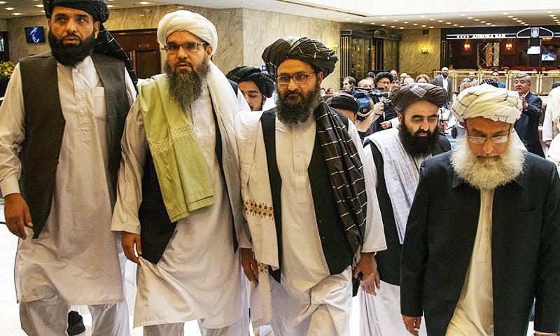 Делегация талибов прибыла в Доху в мае 2019 года на переговоры. Фото Associated Press